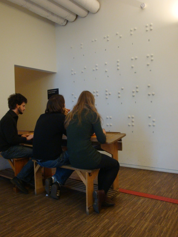 Braille at dialogue in the dark