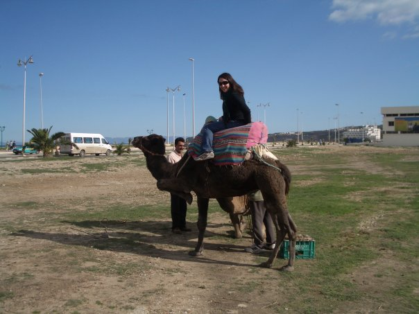 riding a camel in Tangier