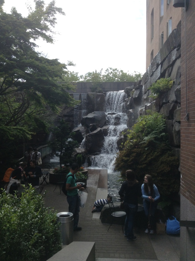Waterfall Garden Park in Seattle