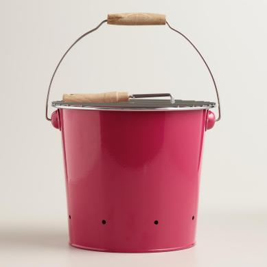galvanized grill bucket