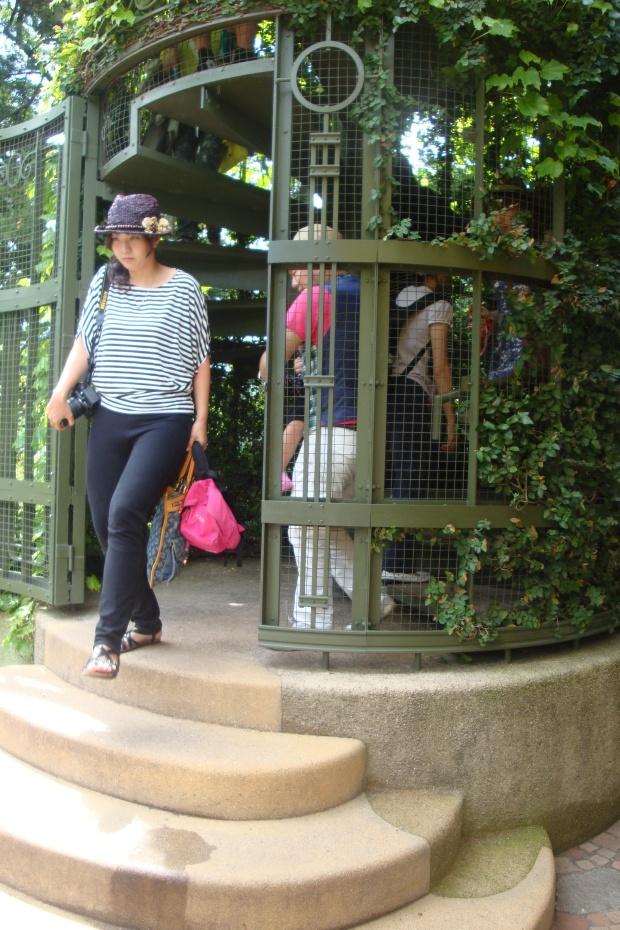 stairs to laputa at ghibli museum
