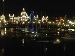 Inner Harbour Victoria Christmas Lights