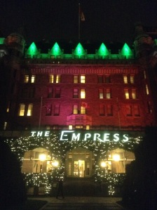 Fairmont Empress Hotel at Christmas