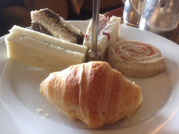 tea sandwiches at the empress hotel