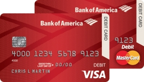 bank of america chip debit card