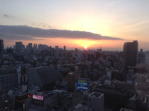 sunset from tokyo central yh